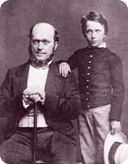 Henry James Jr. and Sr. in 1854. Photograph by Matthew Brady